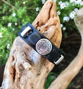 Funky black Celtic bracelet.