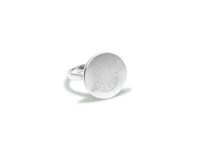 Breeze Horseshoe & Nail Disc Ring