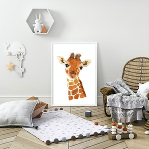 Keeley the Baby Giraffe - Archival Print A4