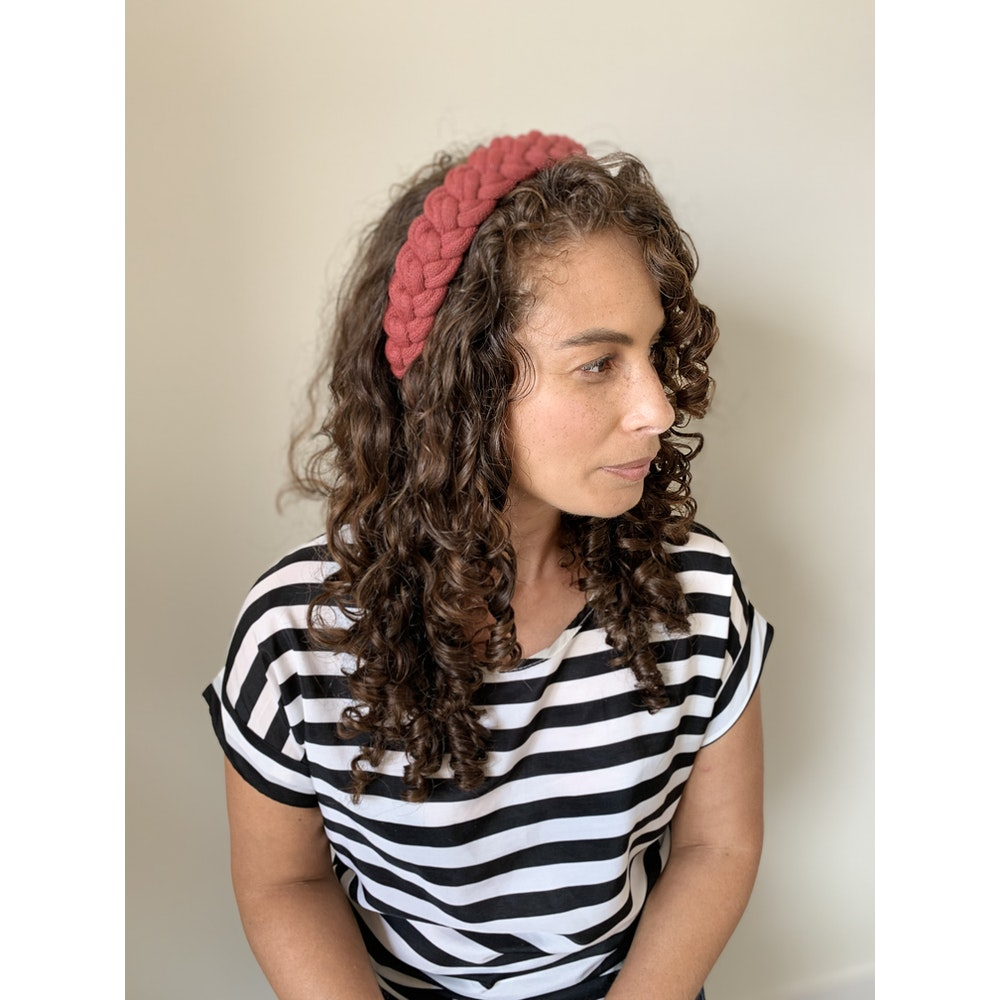 Form Norfolk Chunky Loop Knot Headband In Berry Red