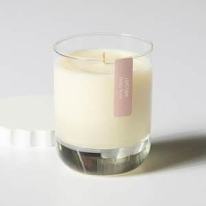 Dusty Rose Glass Candle