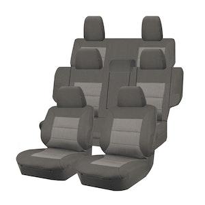 Premium Car Seat Covers For Mitsubishi Pajero Ns-Nt-Nw-Nx Series 2006-2020 4X4 Suv/Wagon 7-Seater | Grey