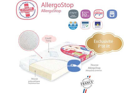 AllergoStop® cot mattress - exclusive by P'tit lit