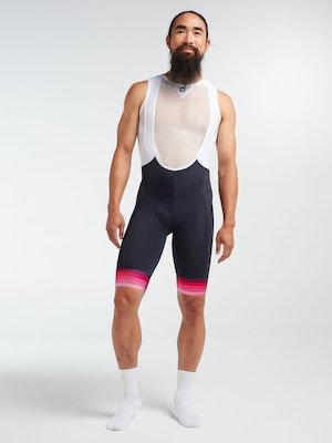 Black Sheep Cycling Men's Essentials TOUR Bib - Navy Pink Stripe