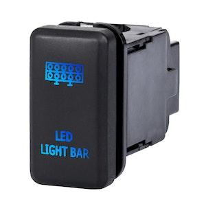 LIGHTFOX LED Light Bar Push Rocker Switch Suitable for TOYOTA Hilux Landcruiser OEM