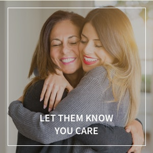 Image of two women hugging
