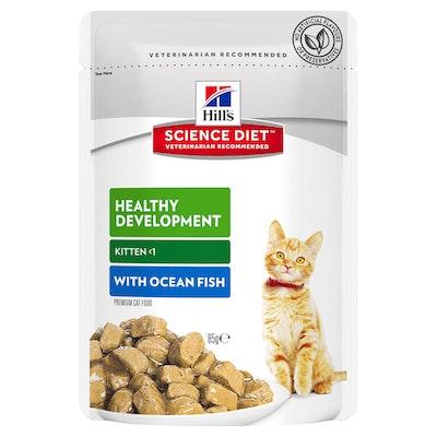 Hills Kitten Healthy Development Wet Cat Food Ocean Fish 12 x 85g