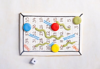 Cookie Game - Snakes and Ladders