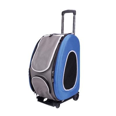 Ibiyaya EVA Pet Carrier- Pet Wheeled Carrier - Blue