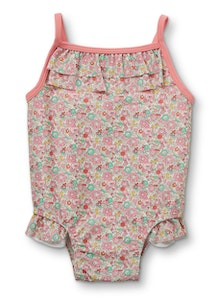 Liberty Fabric Pear Frill Swimsuit - Betsy Ann Pink