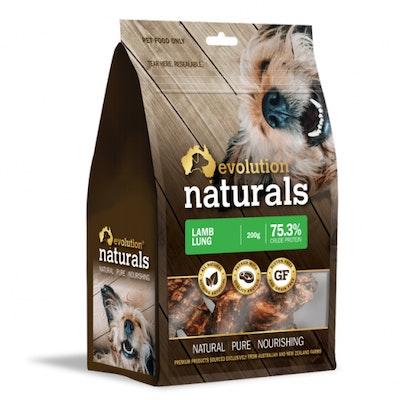 EVOLUTION NATURALS Lamb Lung Dog Treats 200G