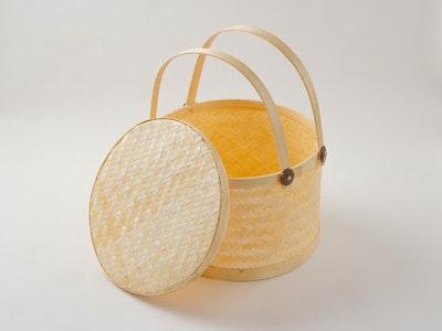 Kayu&Co. Rural Artisan Hand-Woven Large Bamboo Basket
