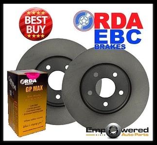 RDA REAR DISC BRAKE ROTORS + BRAKE PADS for Citroen C5 All-models 7/2001-3/2008