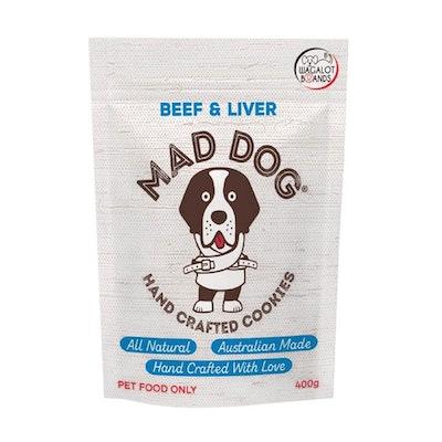 Mad Dog Cookies Mad Dog Cookie Bag Beef & Liver Dog Treats