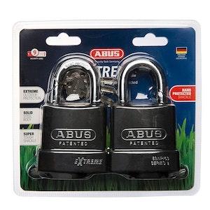 ABUS Extreme Weatherproof Padlock Twin Pack-ABUS Outdoor Padlock-83WP63NTWINSC
