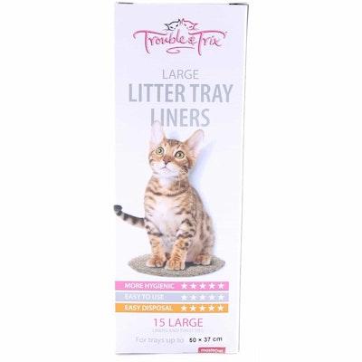 Trouble N Trix Trouble & Trix Plastic Cat Litter Tray Liners