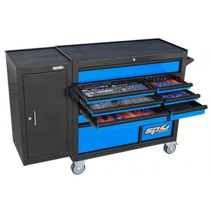 SP50626BL Tool Kit 236 Piece Metric/SAE Roller Cabinet BLACK/BLUE SP50626BL