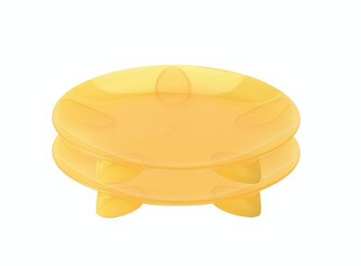 Steadyco Lets Eat Snack Plate 2pk Yellow