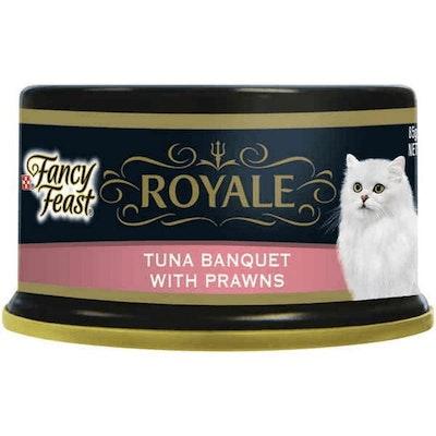 Fancy Feast Royale Tuna Banquet Prawn Wet Cat Food 85G