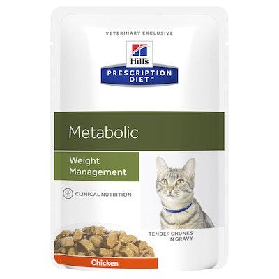 Hill's VET Hill's Prescription Diet Metabolic Weight Management Pouches Wet Cat Food 85G
