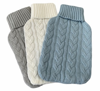Boutique Medical HOT WATER BOTTLE KNITTED COVER ONLY Winter Warm Soft Bag Relaxing Warm New