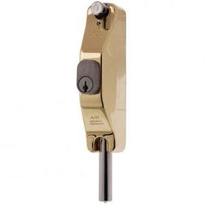 ADI SL5 narrow style lockable bolt for aluminium doors, polished brass