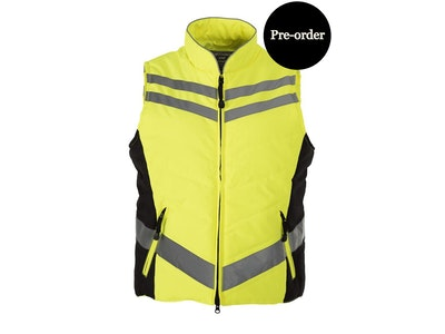 Equisafety CHILD Reflective Quilted Gilet - Yellow