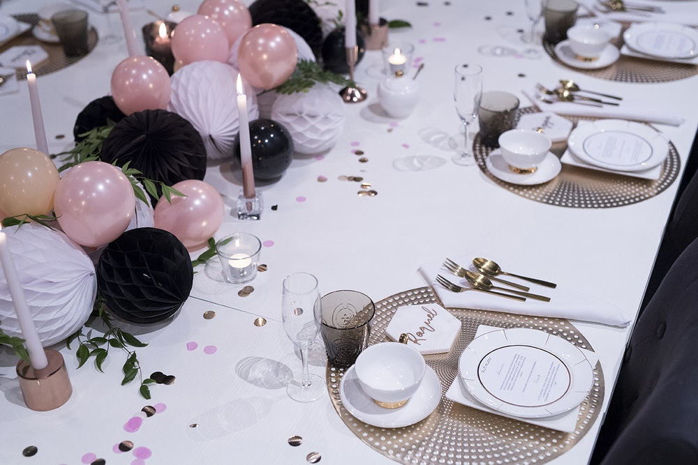 Favor Lane Champagne High Tea Table Setting