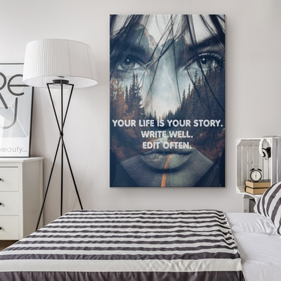 Art Of A Kind Your Life Your Story Inspirational Canvas Wall Art