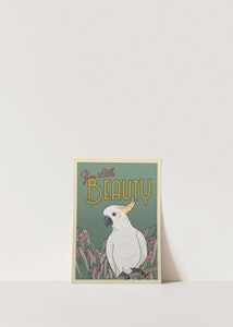 Vintage Inspired Cockatoo Poster