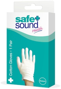 Safe + Sound Health Protective Cotton Gloves 1 Pair Medium