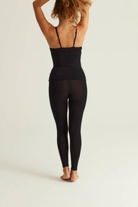 Woron Soft and Semi Sheer Leggings - Black