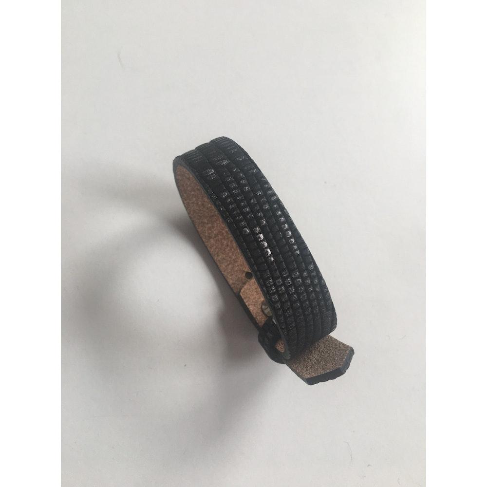 One of a Kind Club Snakeskin Wide Leatherette Bracelet