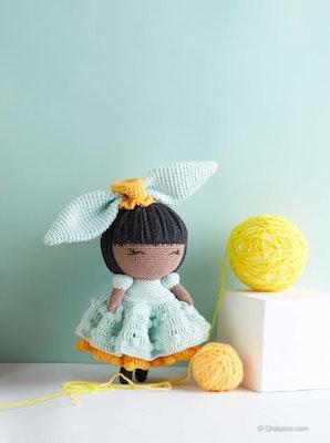 Chippico Australia  Olivia Brown Princess Doll Crochet Stuffed Doll