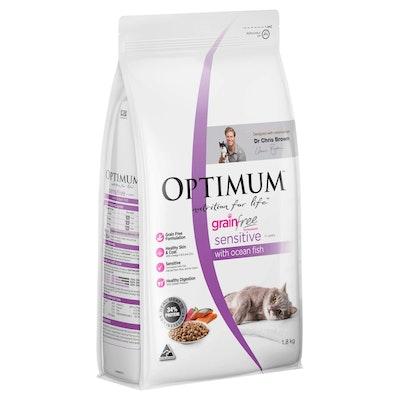 OptimumGrain Free Sensitive Ocean Fish Dry Cat Food