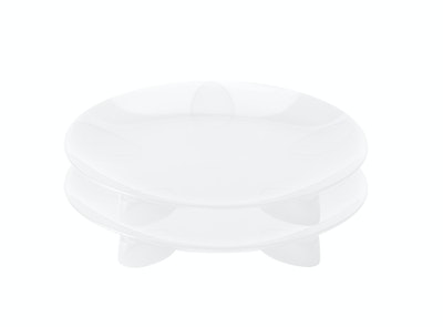 Steadyco Lets Eat Snack Plate 2pk White