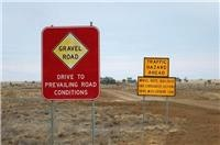 Fair warning. Richmond to Winton Qld, Outback Road Signs.