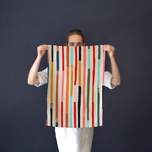 Tea Towel Wandering Lines.