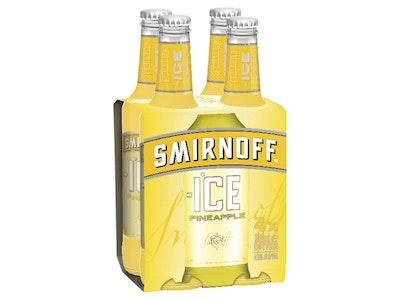 Smirnoff Ice Pineapple Bottle 300mL 4 Pack