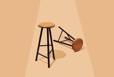 Flash Bark Custom Furniture Liquorice Bar Stool