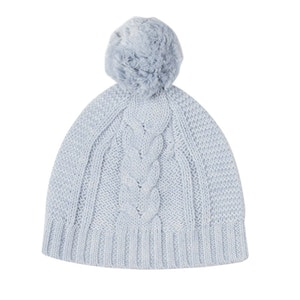 Jujo Baby Lighterweight Cable Beanie - Pale Blue