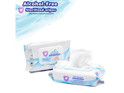WH Safe Alcohol-Free Sterilised Disinfecting Wipes (50 wipes per pack)