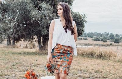 Frida Straight Skirt - Paparika