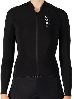 Pedal Mafia Women's Long Sleeve PMCC Jersey - Black White