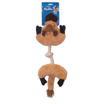 My M8s Plush Buffalo Tug Interactive Play Dog Chew Toy