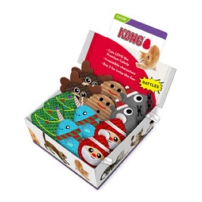 KONG Cat Holiday Scrattles 18pc PDQ Toy