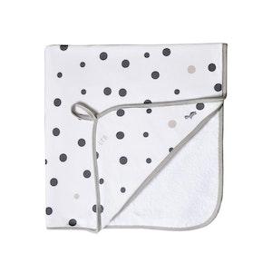 Hooded Towel - GREY & BEIGE SPOTS