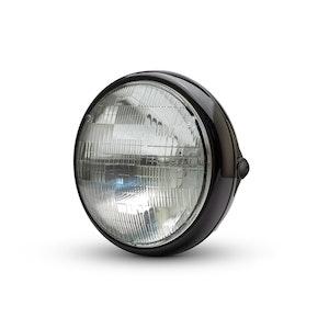 "7.7"" Shorty Metal Headlight - Gloss Black"
