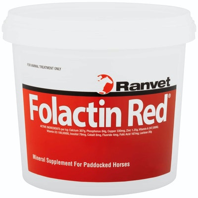 Ranvet Folactin Horses Stud Formula Mineral Supplement Red - 2 Sizes
