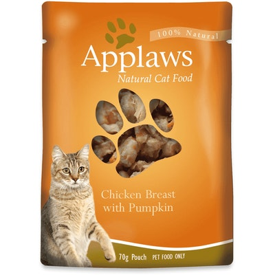 Applaws Natural Cat Food Chicken Breast With Pumpkin Pouch 70g 16 Pack